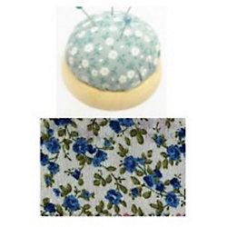 """Игольница-подушечка """"Синие цветы"""" 7,3*4,5 см"""