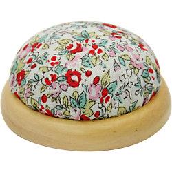"""Игольница-подушечка """"Красные цветы"""" 7,3*4,5 см"""