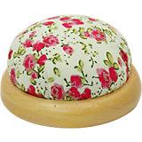"""Игольница-подушечка """"Розовые цветы"""" 7,3*4,5 см"""