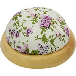 """Игольница-подушечка """"Фиолетовые цветы"""" 7,3*4,5 см"""