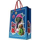 """Подарочный пакет """"Ретро-игрушки"""" 26*32,4*12,7 см"""