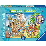 Rubbelpuzzle Spaß auf dem Piratenschiff 80 Teile