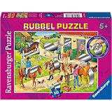 Rubbelpuzzle Spaß auf dem Reiterhof 80 Teile