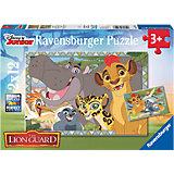 Puzzleset Garde der Löwen: Beschützer des Königreichs 2 x 12 Teile