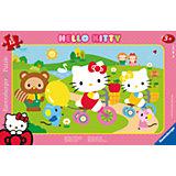 Rahmenpuzzle Hello Kitty: Kitty auf Fahrradtour 15 Teile