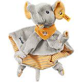 Steiff 240263 Trampili Elefant Schmusetuch grau/orange 24 cm
