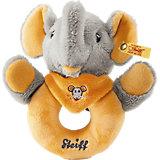 Steiff 240270 Trampili Elefant Greifring grau/orange 12 cm