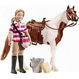 "Набор ""Кукла Ева с аксессуарами для лошади"", Breyer"