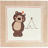Kinderteppich Bär, 90 x 90 cm