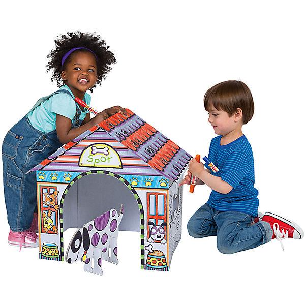 Раскрась домик для собачки, ALEX
