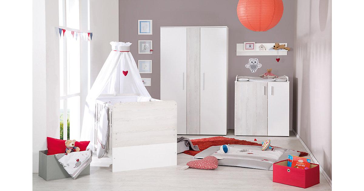 Kinderbett ALENJA, Pinie weiß, 70 x 140 cm