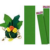 Светло-зеленая крепированная бумага 50*250 см