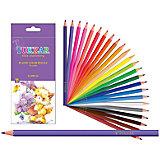 Шестигранные цветные карандаши, 24 цвета
