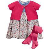 NEXT Baby Set Kleid + Jacke + Strumpfhose für Mädchen