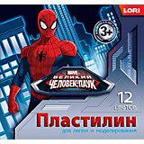 "Пластилин ""Человек-паук"" 12 цветов"