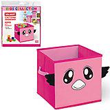 Розовый короб для хранения 30*30*29 см