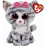 Beanie Boo Kiki Katze grau, 15cm
