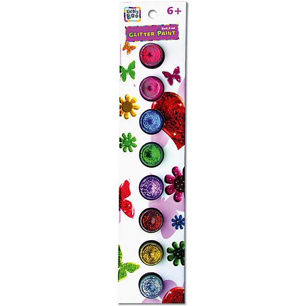 Набор искрящихся красок с кисточкой, 8 цветов