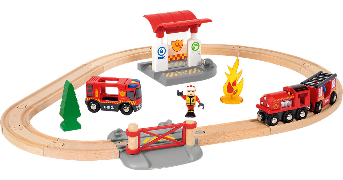 33815 BRIO Bahn Feuerwehr Set