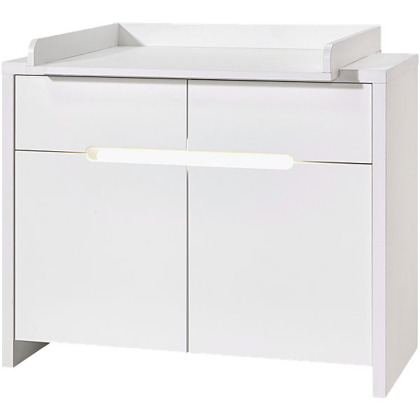 Wickelkommode Poppy White, Dekor/MDF weiß