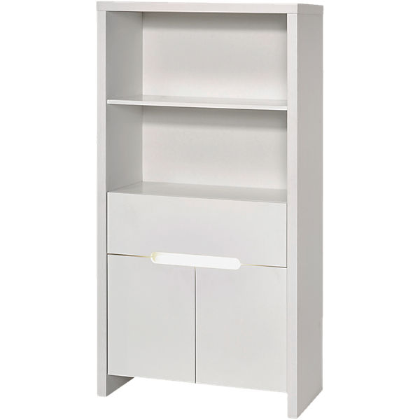 Standregal Poppy White, Dekor/MDF weiß