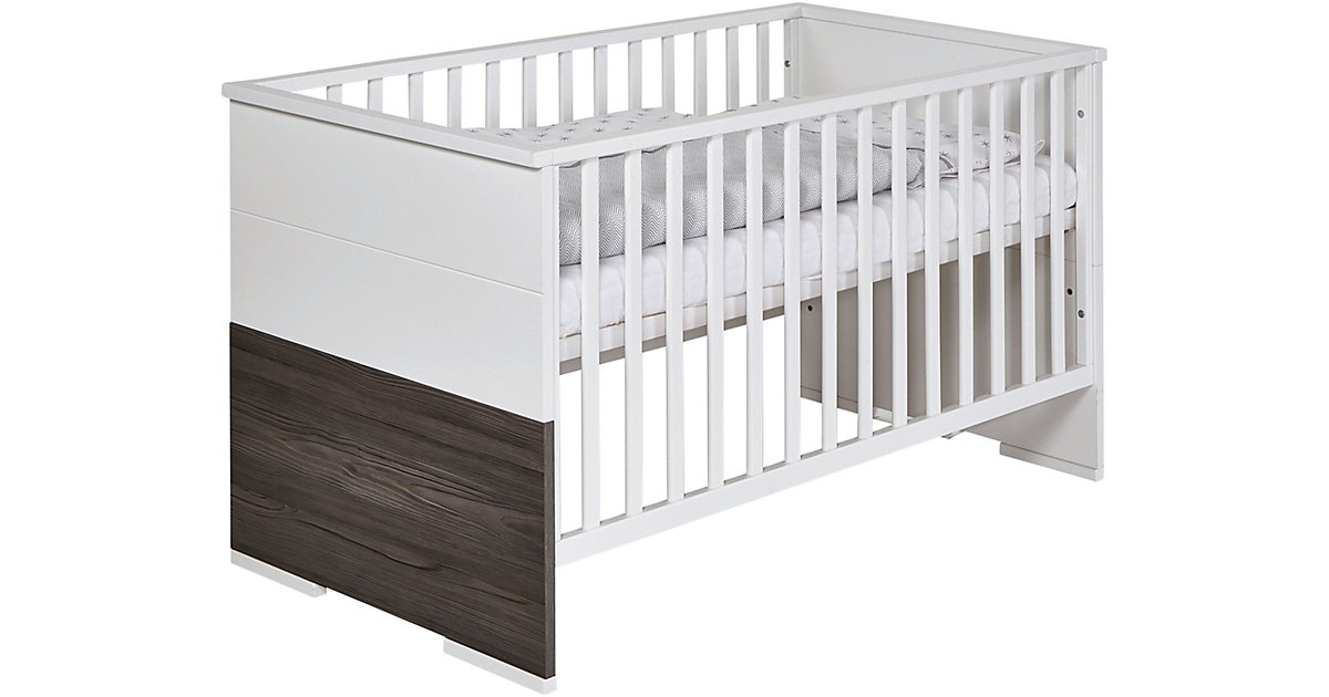 Kinderbett Maxx Fleetwood, 70 x 140 cm, weiß/Holzdekor Fleetwood