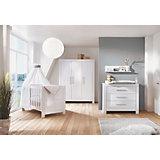 Sparset Nordic Hochglanz (Kinderbett 70x140 cm und Wickelkommode), Dekor Hochglanz weiß