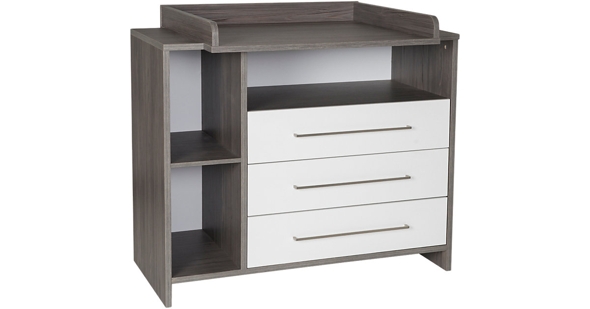 Wickelkommode Eco Fleetwood, Dekor weiß/Holzdekor Fleetwood grau/weiß
