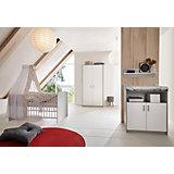 Sparset Classic Grey (Kinderbett 60x120 cm und Wickelkommode), Dekor grau/weiß