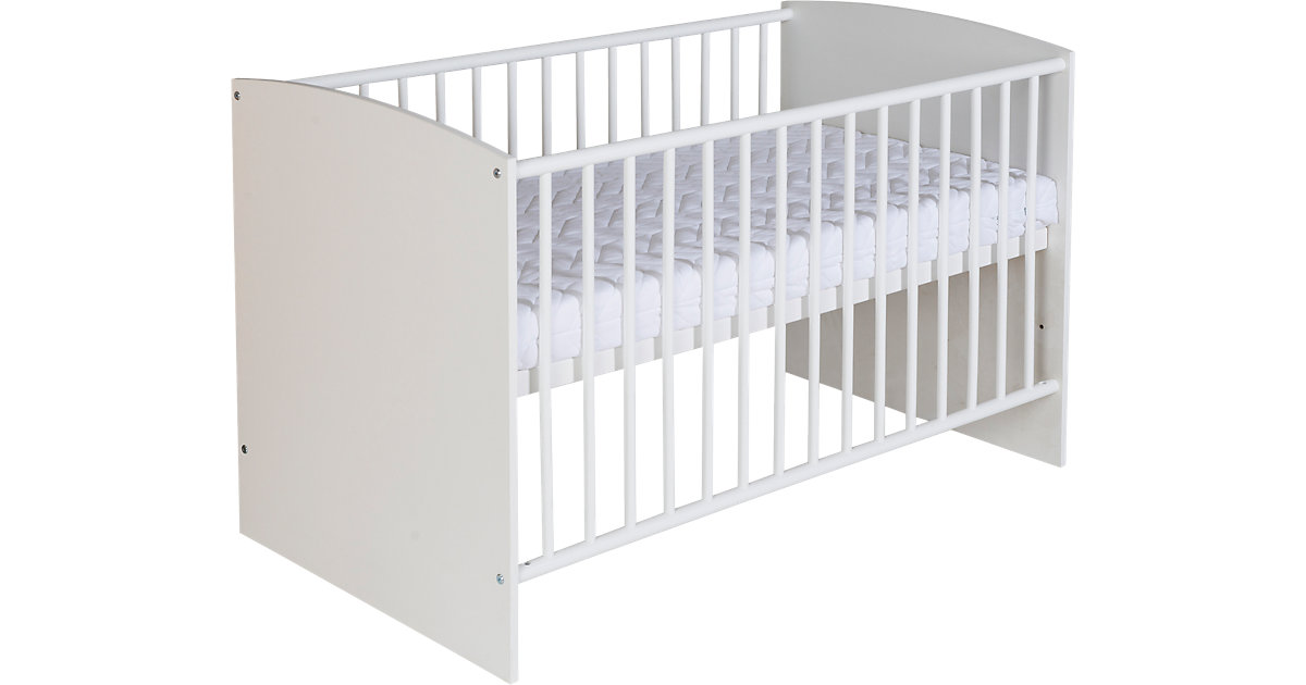 Kinderbett Classic White, 60 x 120 cm, Dekor weiß