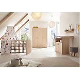 Komplett Kinderzimmer Classic Buche (Kombi-Kinderbett 70 x 140 cm mit Umbaukit, Wickelkommode und Kleiderschrank 3-trg.), Holzdekor Buche