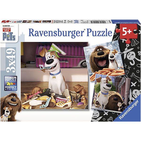 Puzzleset 3 x 49 Teile Secret Life of Pets