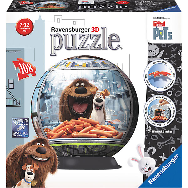 3D puzzleball® 108 Teile Pets