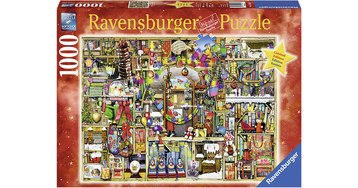 Puzzle 1000 Teile Weihnachtsregal