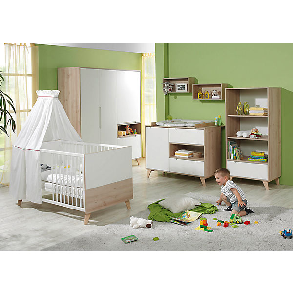 komplett kinderzimmer mette 3 tlg kinderbett wickelkommode und 3 t riger kleiderschrank. Black Bedroom Furniture Sets. Home Design Ideas