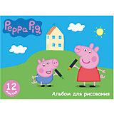 """Альбом для рисования 12 листов """"Свинка Пеппа"""""""