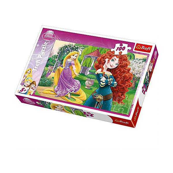 """Пазл """"Веселые принцессы"""", 100 деталей, Trefl"""