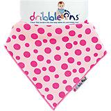 Dribble Ons Bandana-Halstuch, pink gepunktet