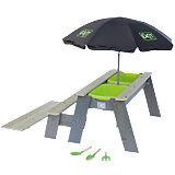 Sand- und Wassertisch EXIT Aksent L, inkl. Sonnenschirm und Gartenwerkzeuge