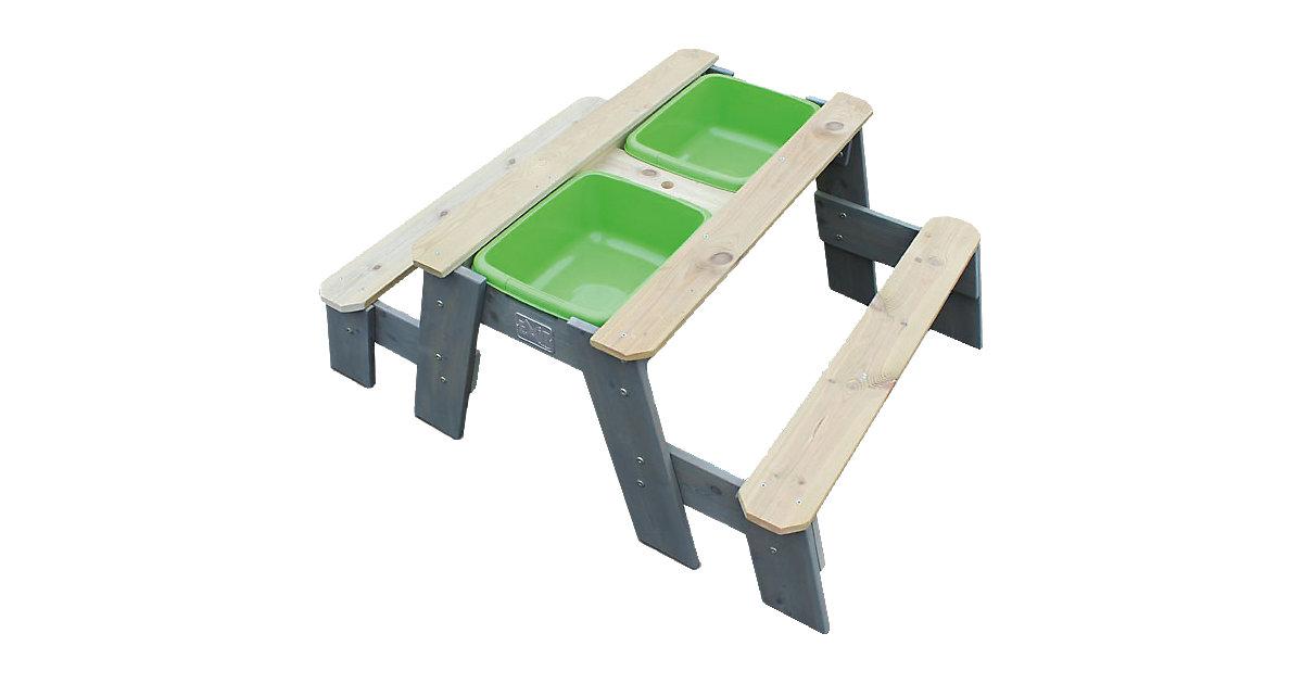 Sand-, Wasser- und Picknicktisch EXIT Aksent 2 Sitzflächen, inkl. Sonnenschirm und Gartenwerkzeuge