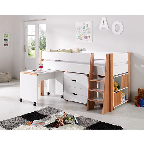 schubladenkommode sam buche massiv natur wei relita. Black Bedroom Furniture Sets. Home Design Ideas
