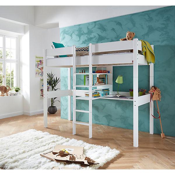 hochbett noel buche massiv wei lackiert relita mytoys. Black Bedroom Furniture Sets. Home Design Ideas