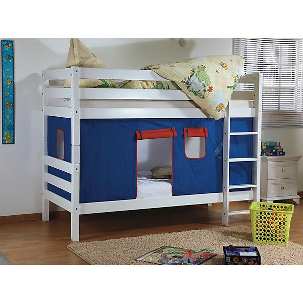 vorhangset f r spielbett inkl hakenband magnum beni und jan blau rot relita mytoys. Black Bedroom Furniture Sets. Home Design Ideas