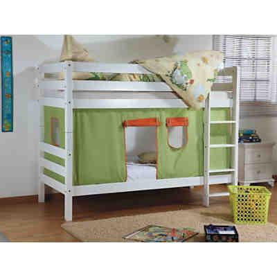 vorhangset f r spielbett inkl hakenband magnum beni und jan gr n orange relita mytoys. Black Bedroom Furniture Sets. Home Design Ideas
