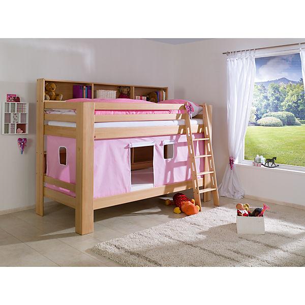 vorhangset f r spielbett inkl hakenband magnum beni und jan rosa wei relita mytoys. Black Bedroom Furniture Sets. Home Design Ideas