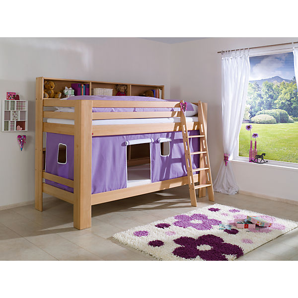 vorhangset f r spielbett inkl hakenband magnum beni und jan lila wei relita mytoys. Black Bedroom Furniture Sets. Home Design Ideas