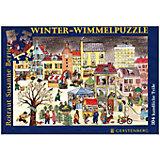 Winter-Wimmel-Puzzle (Kinderpuzzle 104 Teile)