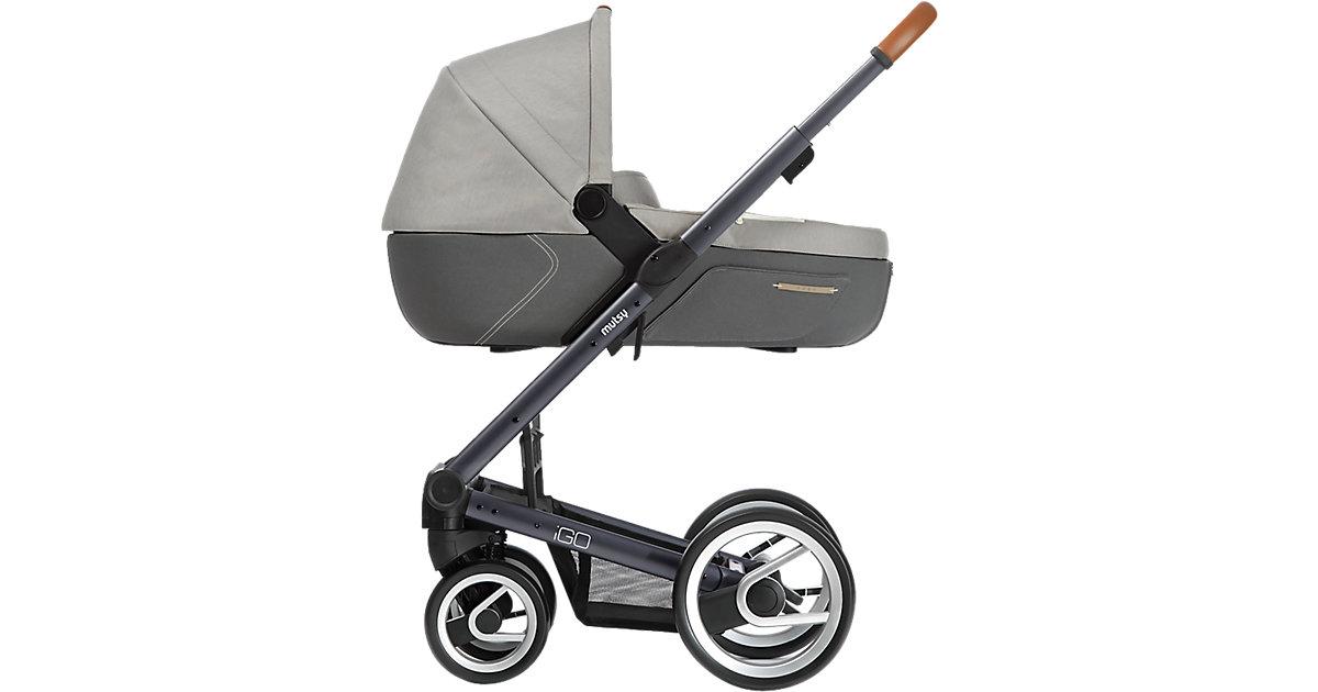 Kombi-Kinderwagen Igo pure, storm, Gestell darkgrey grau/beige