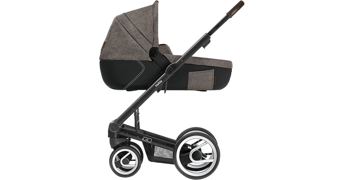 Kombi-Kinderwagen Igo farmer, earth, Gestell black braun/beige