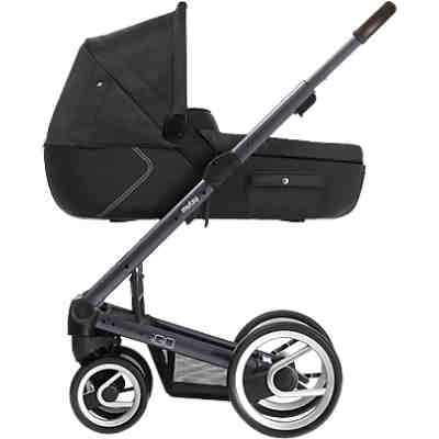 Kombi-Kinderwagen Igo reflect, dark grey print, Gestell darkgrey